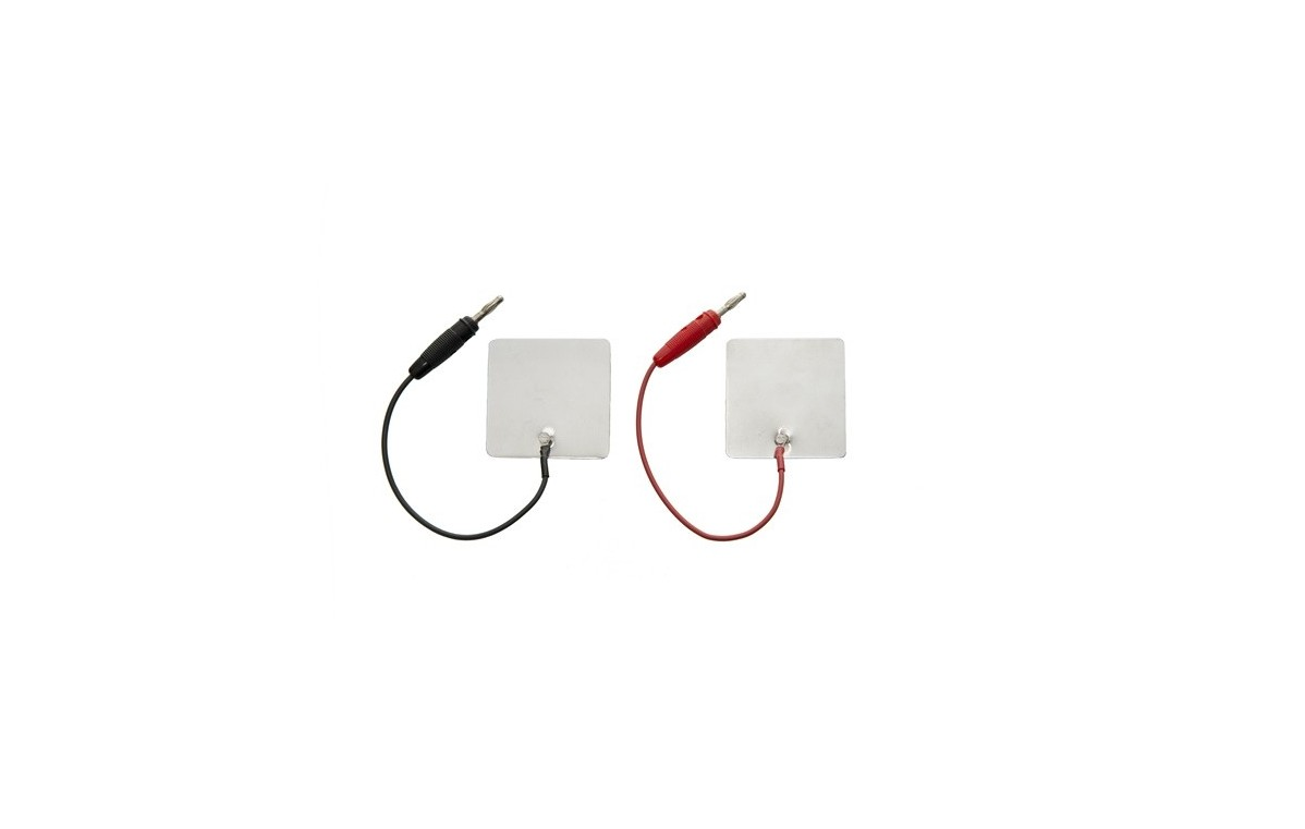 Elektroda aluminiowa 60x60 mm z przyłączem męskim lub żeńskim - 2 lub 4 mm