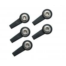 Klips K4T do elektrod samoprzylepnych gniazdo 4 mm-czarny
